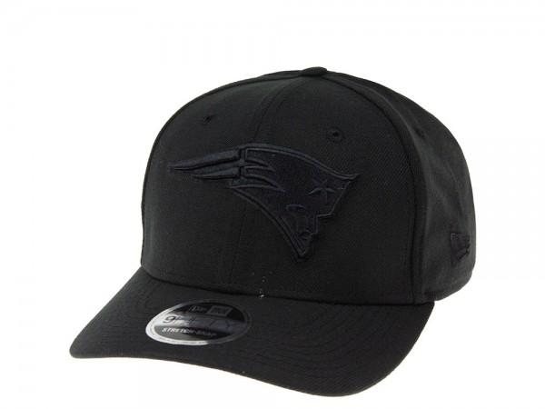 New Era New England Patriots Black on Black 9Fifty Stretch Snapback