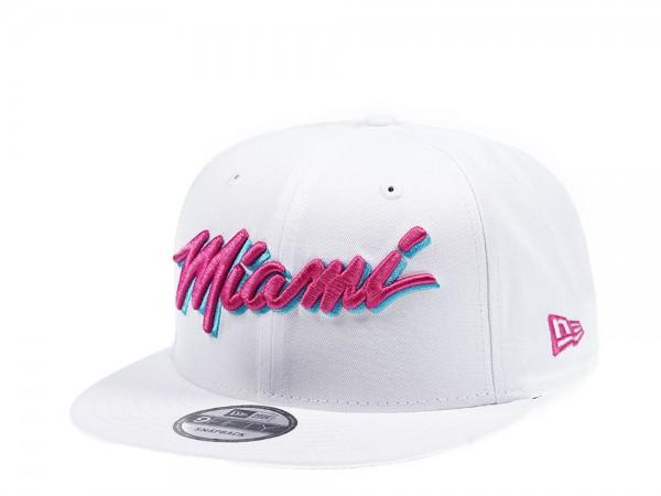 New Era Miami Heat Vice Edition White 9Fifty Snapback Cap