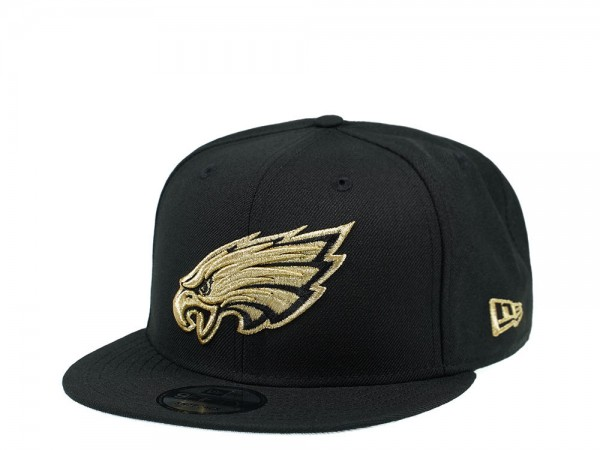 New Era Philadelphia Eagles Black and Gold Edition 9Fifty Snapback Cap