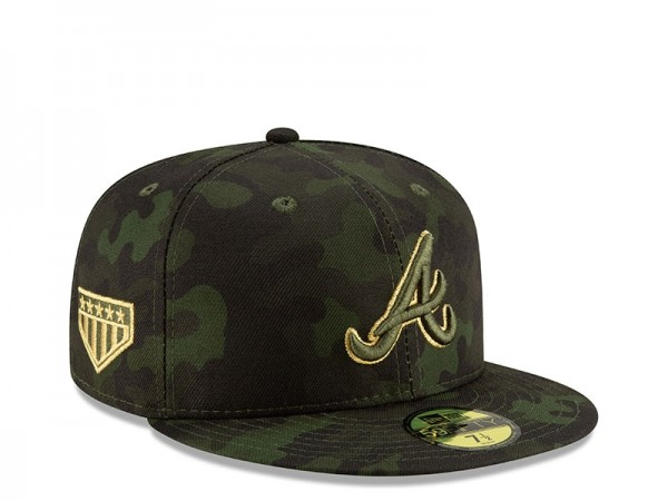 New Era Atlanta Braves Armed Forces Day On Field Fitted 59Fifty Cap