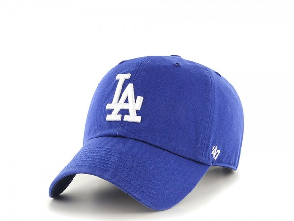 47brand Los Angeles Dodgers Clean Up Curved Strapback Cap