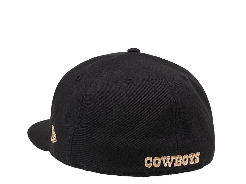 Dallas Cowboys schwarz//Gold New Era 59Fifty Fitted Cap