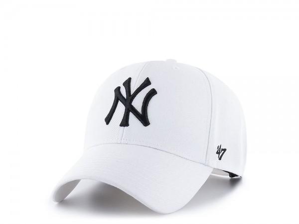 47Brand New York Yankees MVP White Snapback Cap