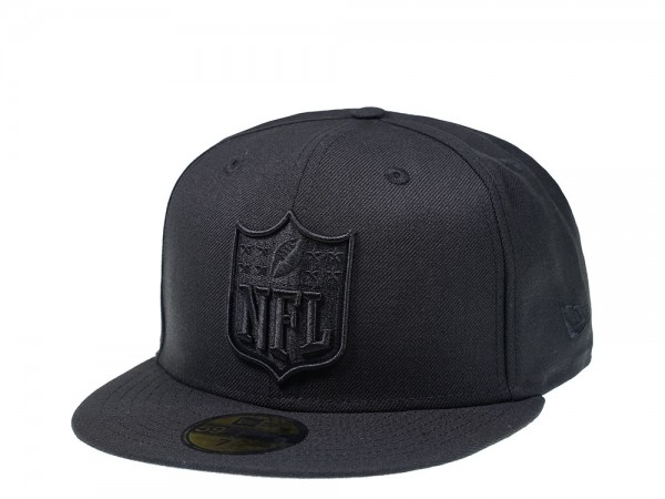 New Era NFL Shield Black on Black Edition 59Fifty Fitted Cap