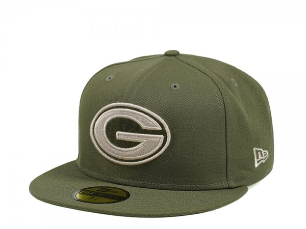New Era Green Bay Packers Army Green Edition 59Fifty Fitted Cap