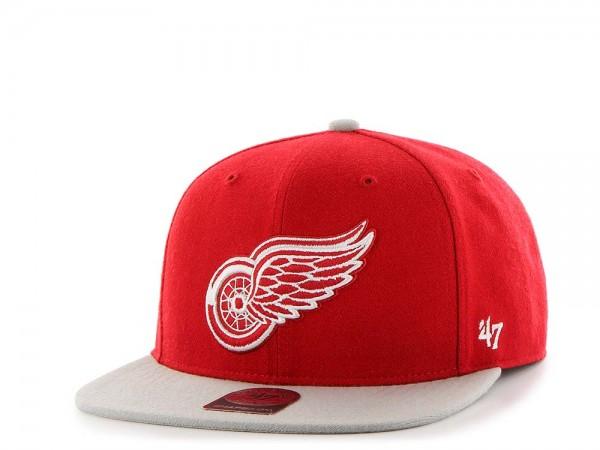 47Brand Detroit Red Wings Sure Shot Captain Two Tone Snapback Cap