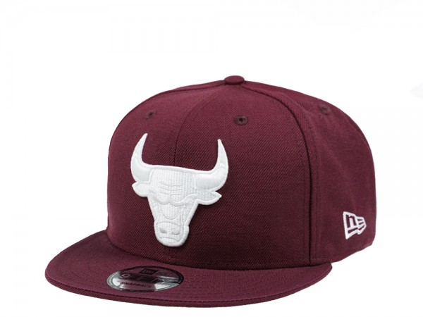 New Era Chicago Bulls White on Maroon Edition 9Fifty Snapback Cap