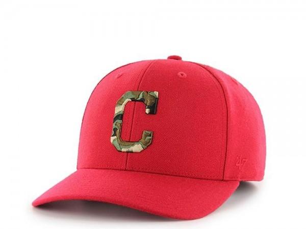 47Brand Cleveland Indians Camo Logo MVP DP Strapback Cap