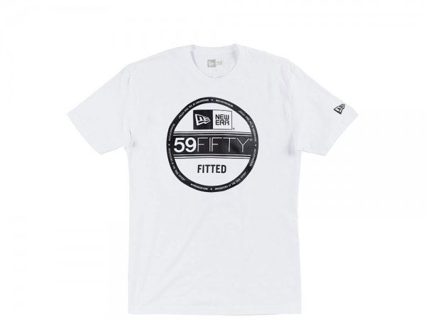 New Era 59fifty Visor Sticker T-Shirt weiß