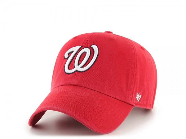 47Brand Washington Nationals Clean Up Strapback Cap