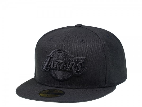 New Era Los Angeles Lakers Black on Black Edition 59Fifty Fitted Cap