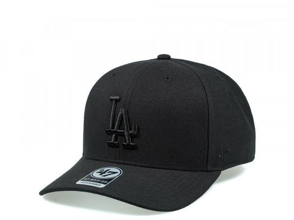 47Brand Los Angeles Dodgers Cold Zone MVP DP All Black Snapback Cap