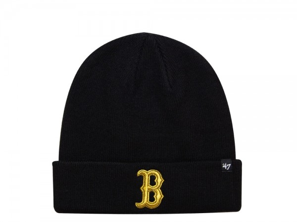 47 Brand Boston Red Sox Gold on Black Edition Knit