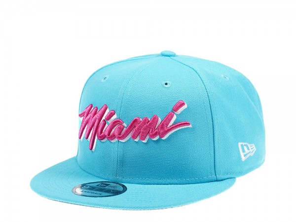New Era Miami Heat Vice Edition Light Blue 9Fifty Snapback Cap