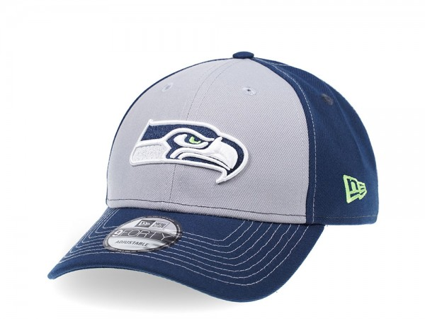 New Era Seattle Seahawks Curved Grey Edition 9Forty Strapback Cap