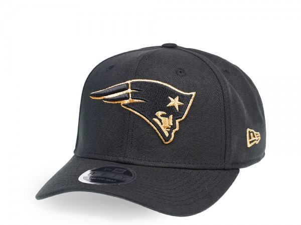 New Era New England Patriots Black and Gold Edition 9Fifty Stretch Snapback Cap