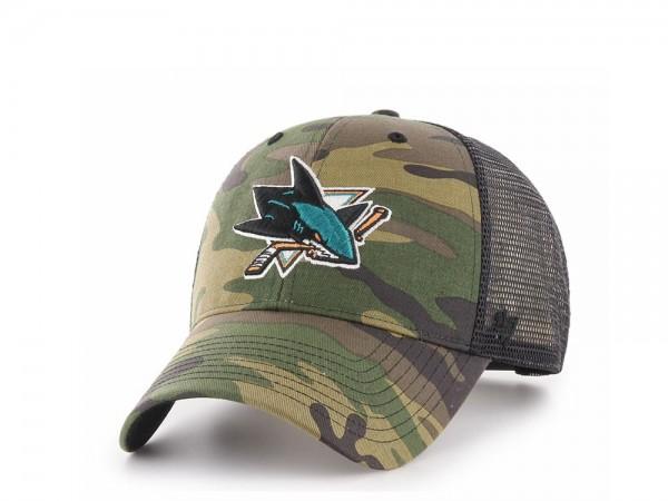47brand San Jose Sharks MVP Trucker Snapback Cap