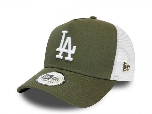 New Era Los Angeles Dodgers 2Tone Olive Trucker Snapback Cap