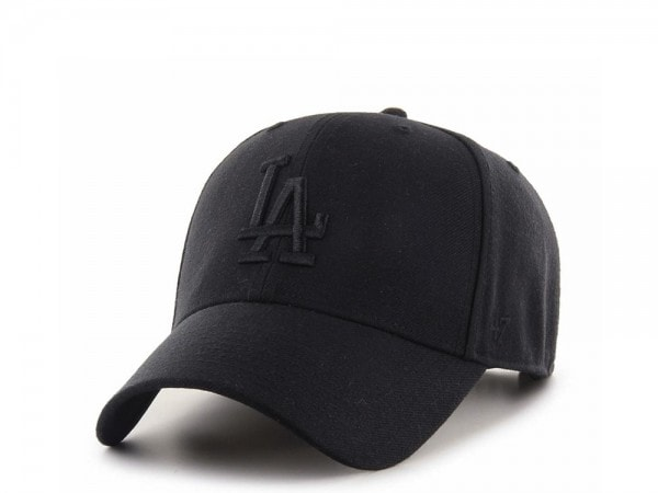 47brand Los Angeles Dodgers Black MVP Snapback Cap