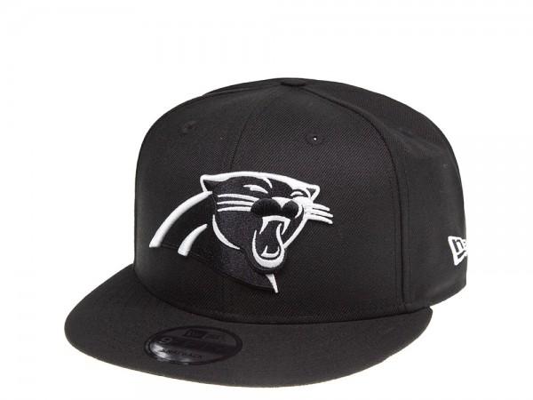 New Era Carolina Panthers Black and White 9Fifty Snapback Cap