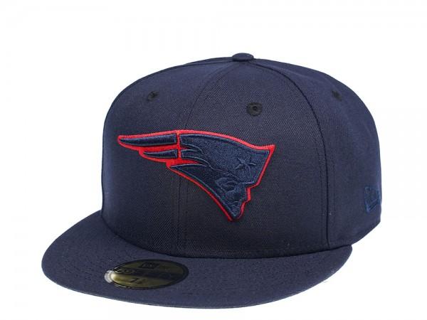 New Era New England Patriots Blue Tonal 59Fifty Fitted Cap
