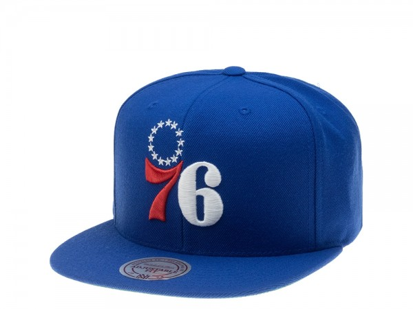 Mitchell & Ness Philadelphia 76ers Wool Solid Snapback Cap