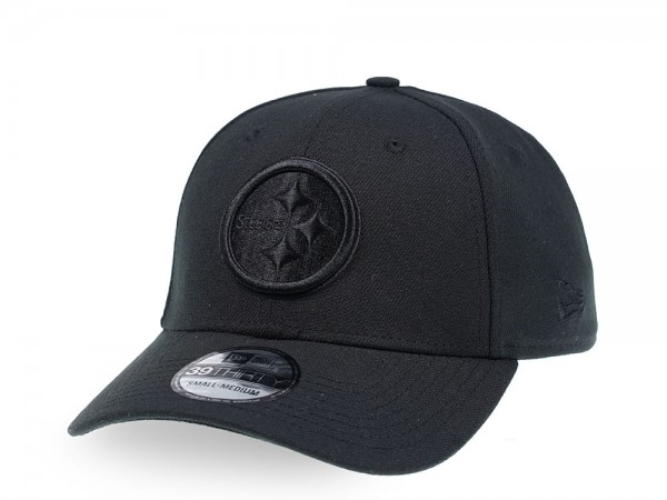 New Era Pittsburgh Steelers Black on Black Edition 39Thirty Stretch Cap