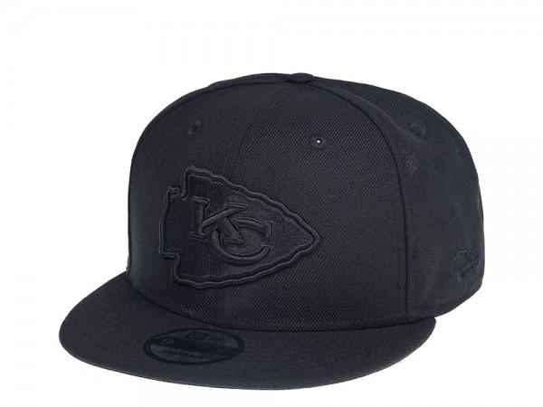 New Era Kansas City Chiefs Black on Black Edition 9Fifty Snapback Cap