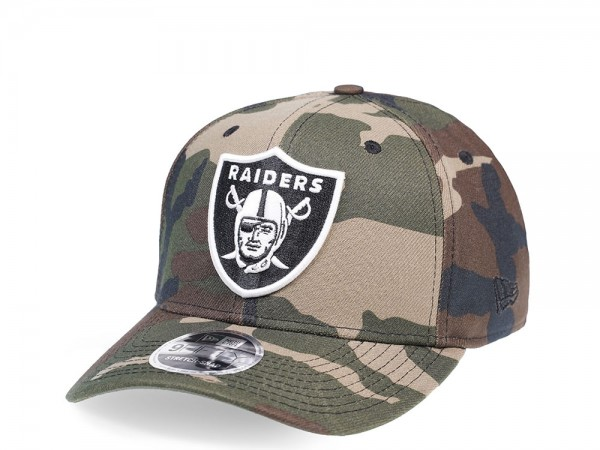 New Era Oakland Raiders All About Camo Edition 9Fifty Stretch Snapback Cap