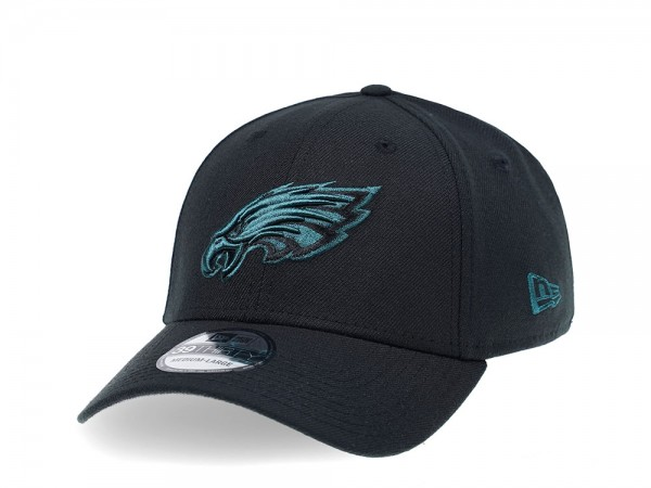 New Era Philadelphia Eagles Curved Black Edition 39Thirty Stretch Cap