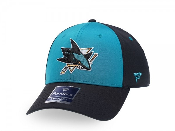 Fanatics San Jose Sharks Blue Iconic Stretch Fit Cap