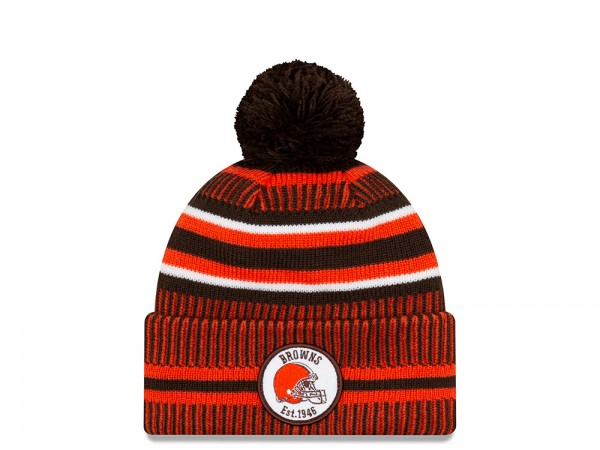 New Era Cleveland Browns Sideline 2019 Home Mütze