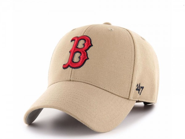 47brand Boston Red Sox Khaki MVP Snapback Cap