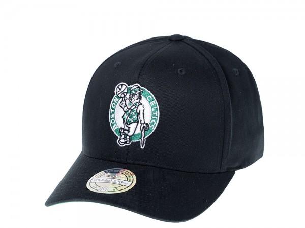 Mitchell & Ness Boston Celtics Simple Black 110 Flexfit Snapback Cap