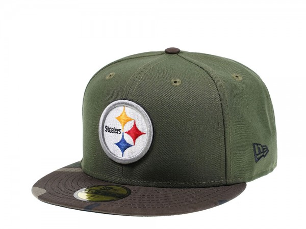 New Era Pittsburgh Steelers Camo Edition 59Fifty Fitted Cap