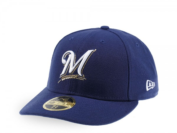 New Era Milwaukee Brewers Authentic Onfield Low Profile  59Fifty Fitted Cap