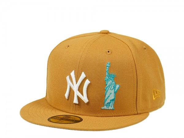 New Era New York Yankees NYC Icons Panama Tan Edition 59Fifty Fitted Cap
