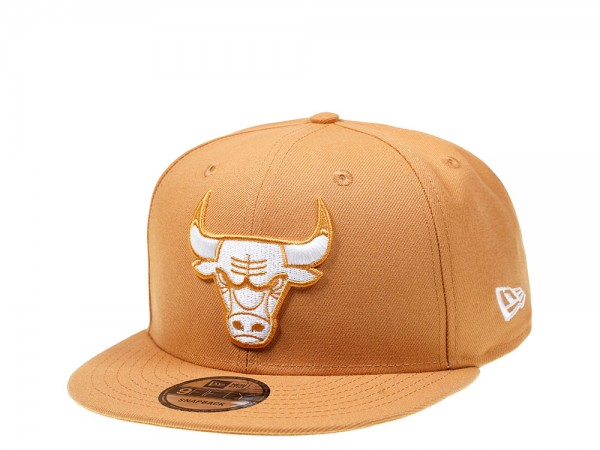 New Era Chicago Bulls Panama Tan Edition 9Fifty Snapback Cap