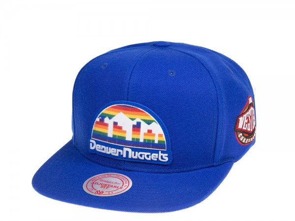 Mitchell & Ness Denver Nuggets Silicon Grass Snapback Cap