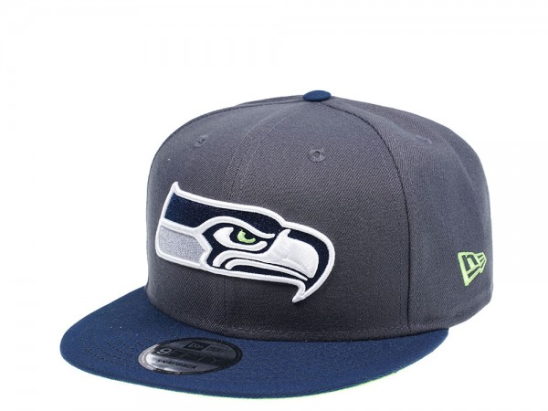 New Era Seattle Seahawks Blue and Grey Edition 9Fifty Snapback Cap
