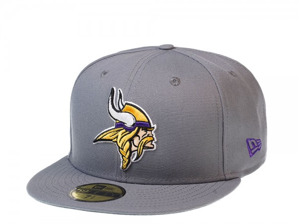 New Era Minnesota Vikings All About Grey Edition 59Fifty Fitted Cap