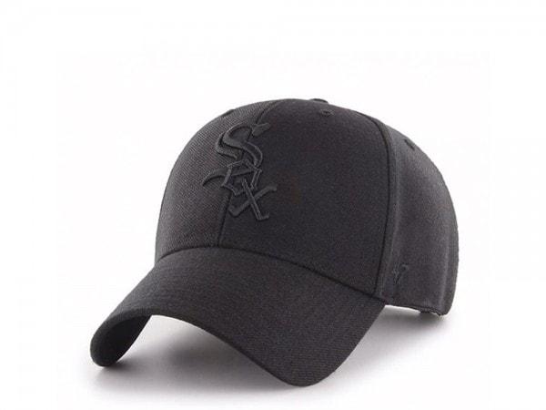 47Brand Chicago White Sox Black on Black MVP Snapback Cap