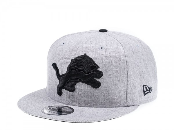 New Era Detroit Lions Heather Black Edition 9Fifty Snapback Cap