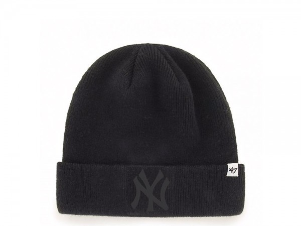 47 Brand New York Yankees Black Raised Cuff Mütze