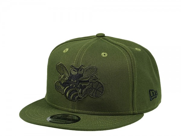 New Era Charlotte Hornets Rifle Green Edition 9Fifty Snapback Cap