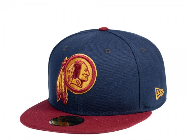 New Era New Washington Redskins Blue Maroon 59Fifty Fitted Cap