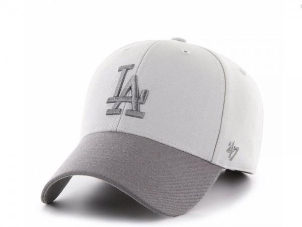 47Brand Los Angeles Dodgers Steel Grey MVP Strapback Cap
