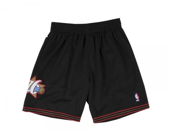 Mitchell & Ness Philadelphia 76ers Swingman Shorts Schwarz