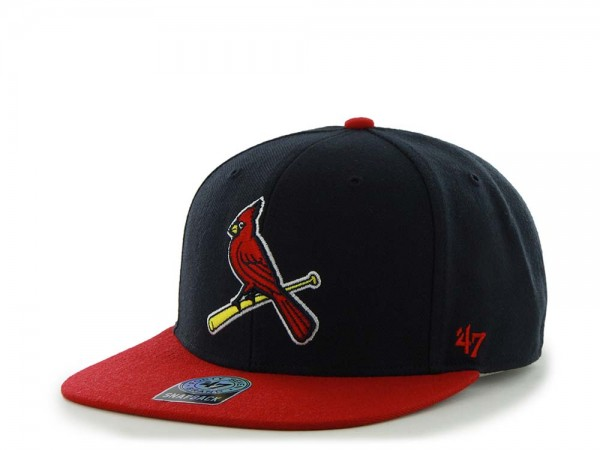 47Brand St. Louis Cardinals Sure Shot Captain Two Tone Navy Snapback Cap