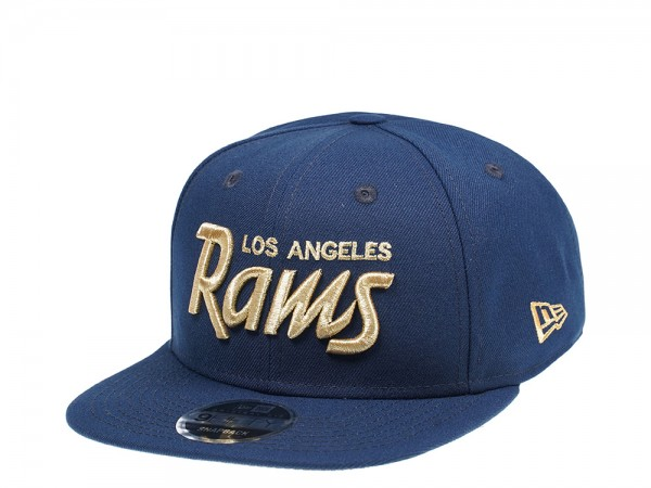 New Era Los Angeles Rams Original Fit Gold Script 9Fifty Snapback Cap